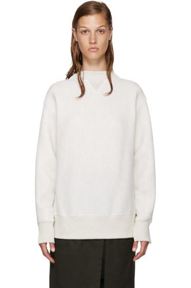 Sacai - Ecru Knit Back Pullover