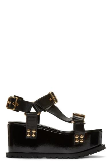 Sacai - Black Studded Teva Flatform Sandal