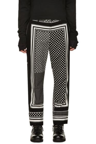 Sacai - Black & White Printed Trousers
