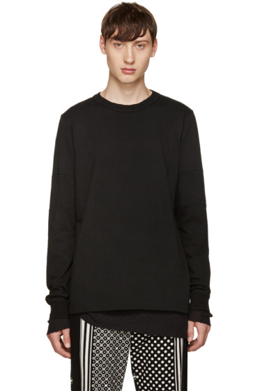 Sacai - Black Panelled T-Shirt