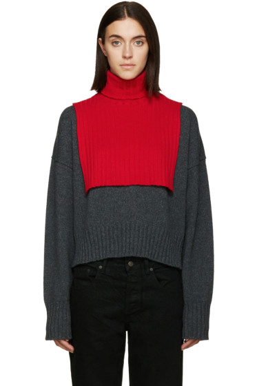 6397 - Red Turtleneck Collar
