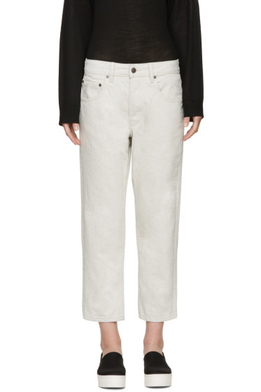6397 - Beige Shorty Jeans