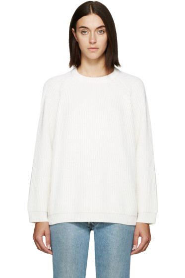 6397 - Off-White Merino Raglan Sweater