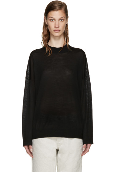 6397 - Black Merino Turtleneck