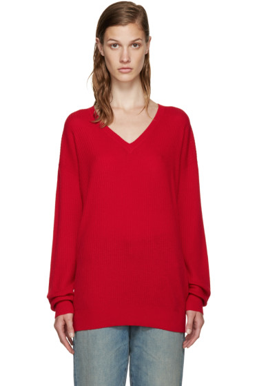6397 - Red Cashmere Sweater