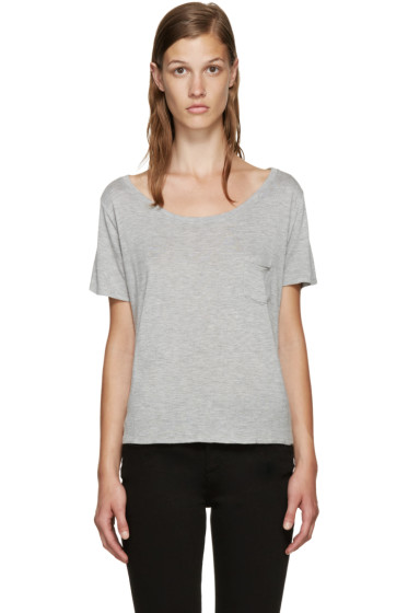 Frame Denim - Grey Le Boxy T-Shirt