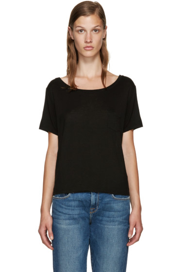 Frame Denim - Black Le Boxy T-Shirt