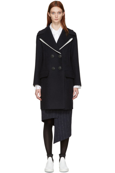 Cédric Charlier - Navy Wool Sailor Coat