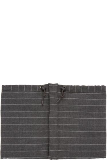 Nanamica - Grey Down Pinstripe Collar