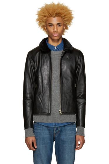 Nanamica - Black Leather Cruiser Jacket
