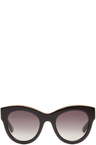 Stella McCartney - Black Cat-Eye Sunglasses