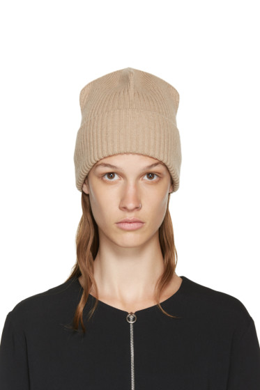 Stella McCartney - Beige Ribbed Beanie