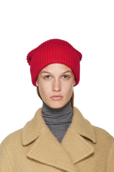 Stella McCartney - Red Frills Beanie