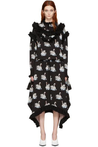 Stella McCartney - Black Ruffle Swan Dress
