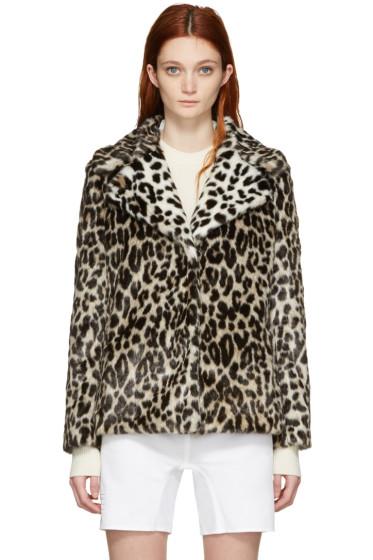 Stella McCartney - Black & Beige Fur Free Fur Dan Jacket