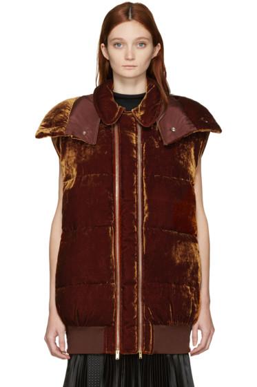 Stella McCartney - Brown Velvet Melissa Vest