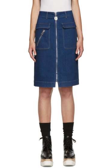 Stella McCartney - Blue Denim Pocket Skirt