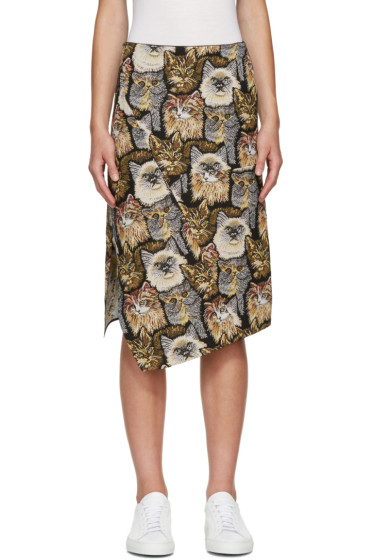Stella McCartney - Multicolor Cat Jacquard Skirt
