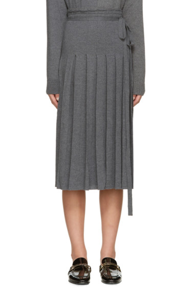 Stella McCartney - Grey Knit Pleated Skirt
