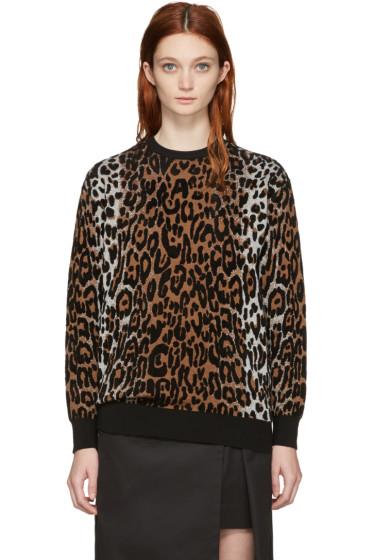 Stella McCartney - Multicolor Cheetah Jacquard Sweater
