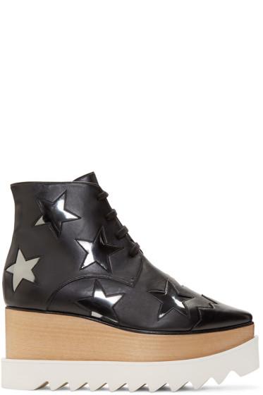 Stella McCartney - Black Star Platform Elyse Boots
