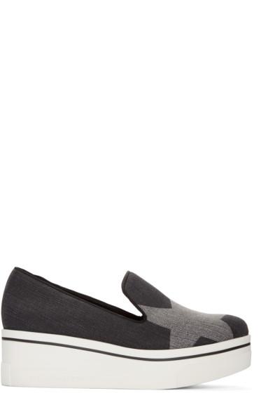 Stella McCartney - Black Denim Binx Loafers