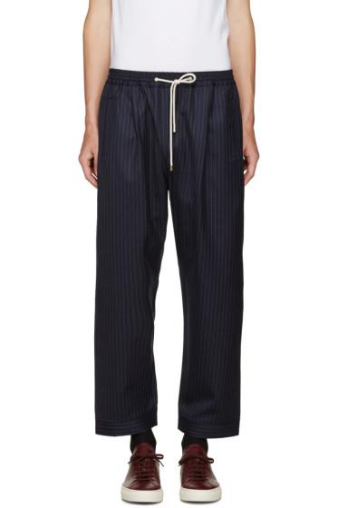 Umit Benan - Navy Pinstripe Trousers