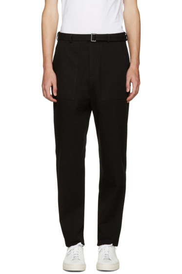 Umit Benan - Black Belted Trousers