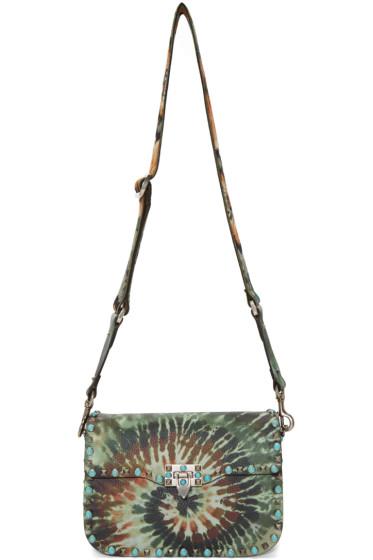 Valentino - Green Rockstud Tie-Dye Messenger Bag