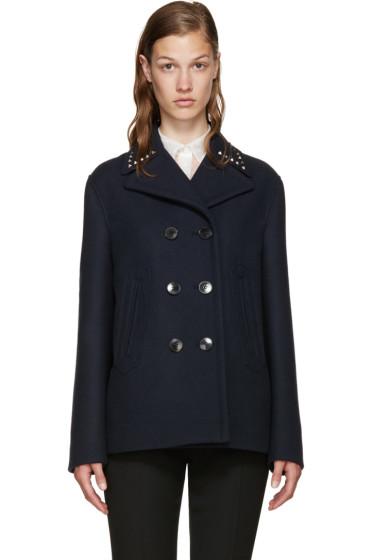 Valentino - Navy Wool Rockstud Untitled Jacket