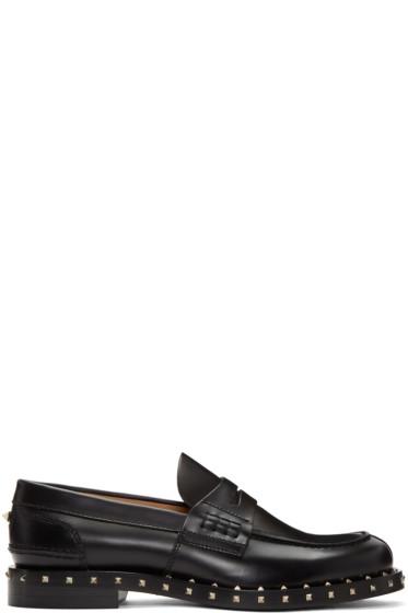 Valentino - Black Soul Stud Loafers