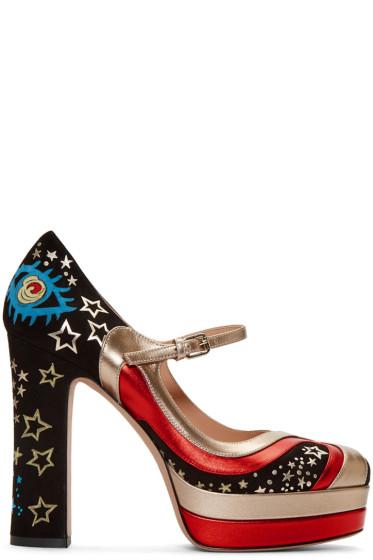 Valentino - Black Cosmic Platform Heels