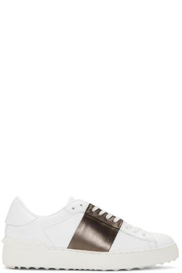 Valentino - White & Brown Open Sneakers