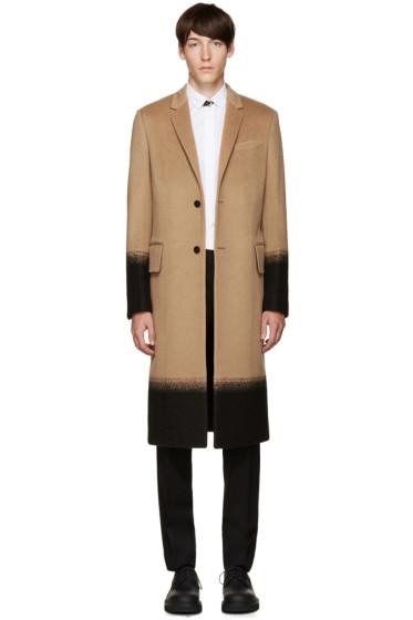 Valentino - Tan Camel Needlepoint Coat