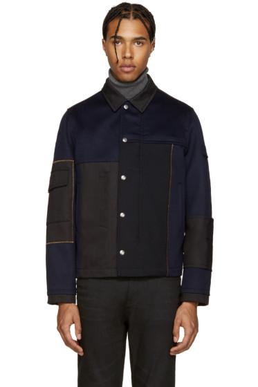 Valentino - Navy & Black Wool Jacket