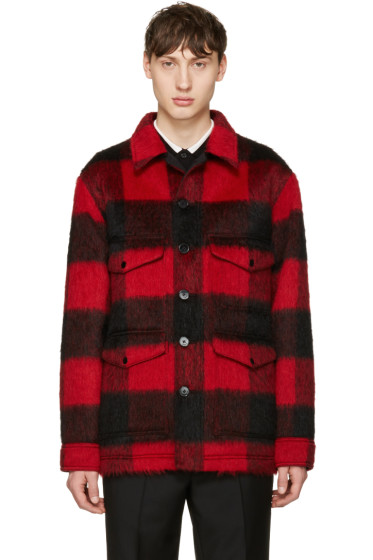 Valentino - Red Mohair Check Jacket