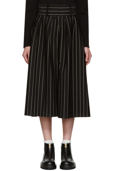 J.W.Anderson - Black Pleat Front Culottes