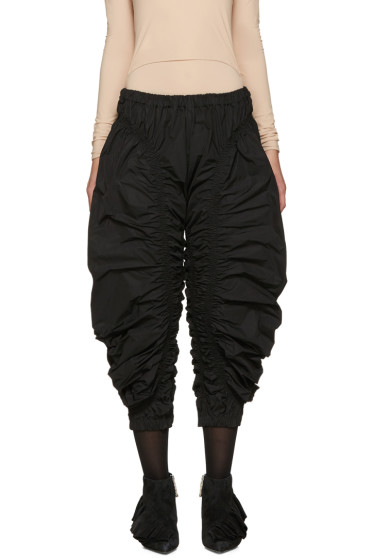 J.W.Anderson - Black Ruched Jodhpur Trousers