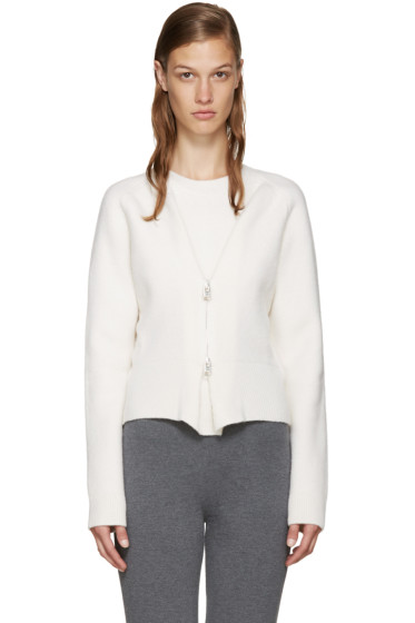 J.W.Anderson - Off-White Zip Front Sweater