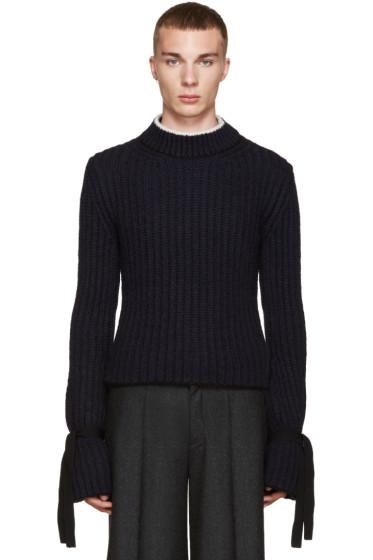 J.W.Anderson - Navy Alpaca Sweater