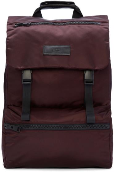 AMI Alexandre Mattiussi - Burgundy Nylon Backpack
