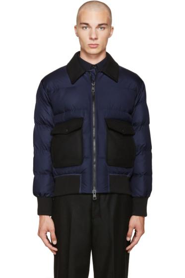 AMI Alexandre Mattiussi - Navy Down Combo Jacket