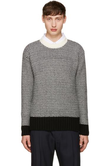 AMI Alexandre Mattiussi - Black & White Wool Sweater