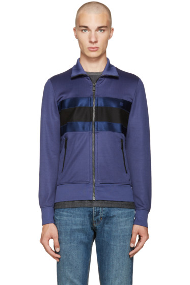 AMI Alexandre Mattiussi - Blue & Black 3 Band Track Jacket