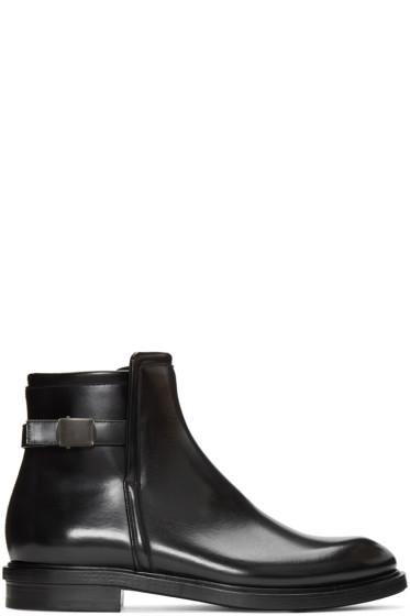 Calvin Klein Collection - Black Bob Zip Boots