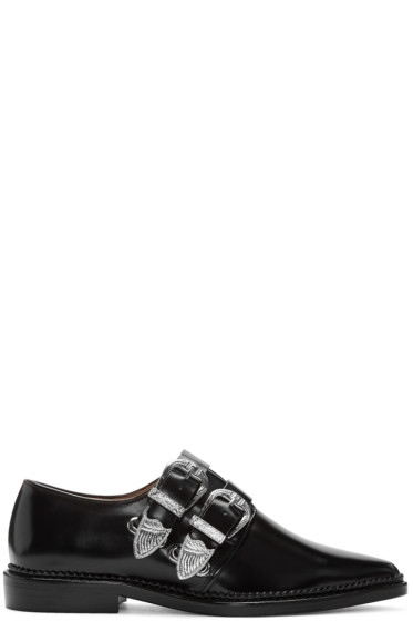 Toga Pulla - Black Two Buckles Loafers