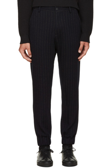 08Sircus - Navy Pinstripe Trousers