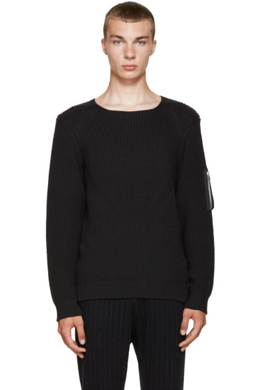 08Sircus - Black Military Sweater