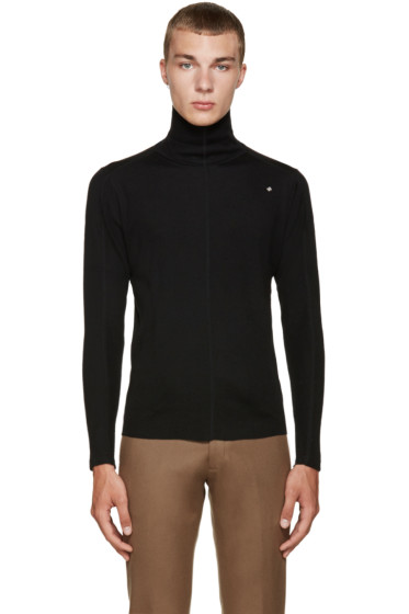 08Sircus - Black Ribbed Turtleneck