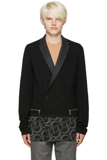 Kolor - Black Printed Panel Blazer